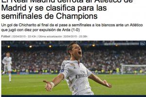 """Así presentaron la noticia del triunfo del Real Madrid en la web oficial de """"La Vanguardia"""". Foto:lavanguardia.com"""