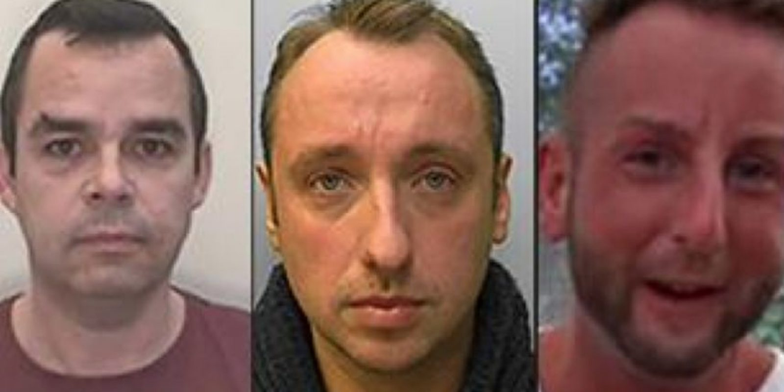 De izquierda a derecha: John Denham 49, Matthew Lisk 32 y Adam Toms 33 Foto:Vía www.nationalcrimeagency.gov.uk
