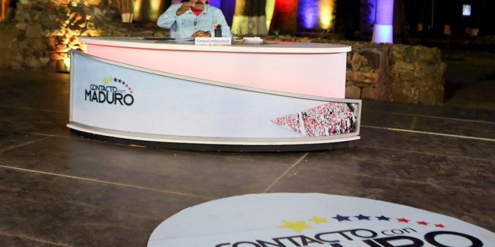 """Así lució Maduro durante su programa """"En contacto con Maduro"""" Foto:AFP"""