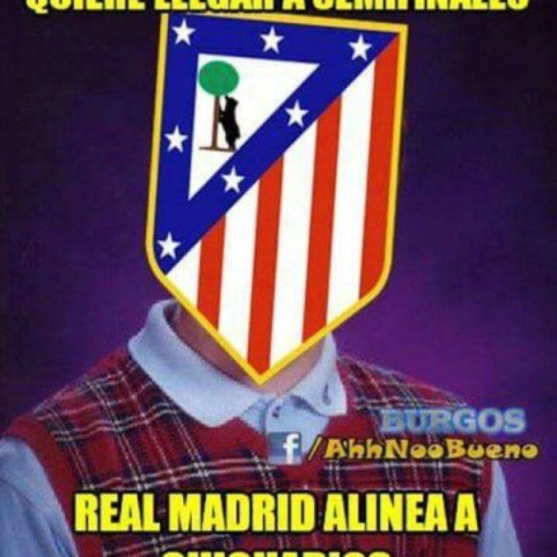 Pero todo cambió en el partido contra el Atlético de Madrid. Foto:Vía facebook.com/ahhnoobueno
