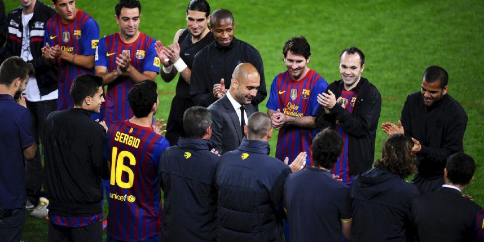 Pep vuelve a casa. El entrenador español enfrentará al Barcelona en semifinales de Champions League. Foto:Getty Images