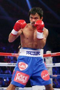 """Y los shorts que """"Pacman"""" llevará en este combate tienen un valor de 2 millones de dólares. Foto:Getty Images"""