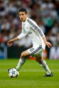 El colombiano fue el principal creador del Real Madrid en el duelo ante Atlético, aunque el protagonismo del gol se lo llevaron Cristiano Ronaldo y Javier Hernández. Foto:Getty Images