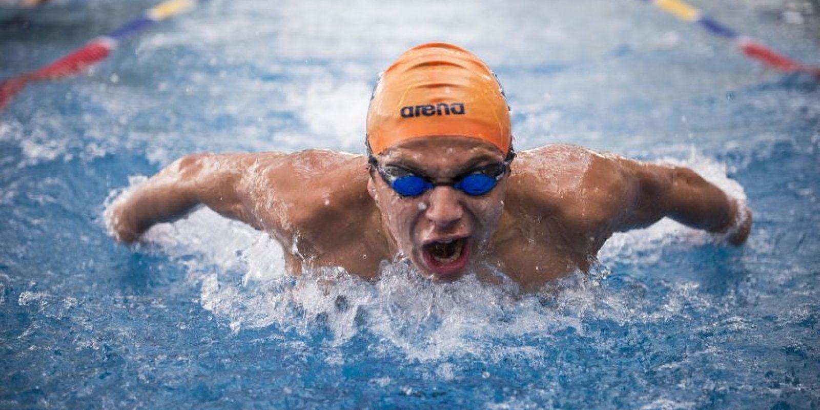 El nadador de 19 años está en Guatemala para competir el fin de semana en el Campeonato Nacional. Foto:Oliver de Ros