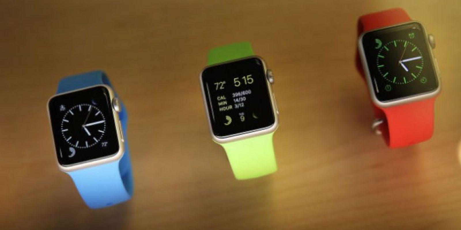 El primer reloj inteligente de Apple fue entregado 15 días después de su preventa online Foto:Getty Images