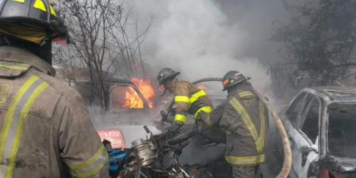 Las imágenes del incendio en el predio de Mixco
