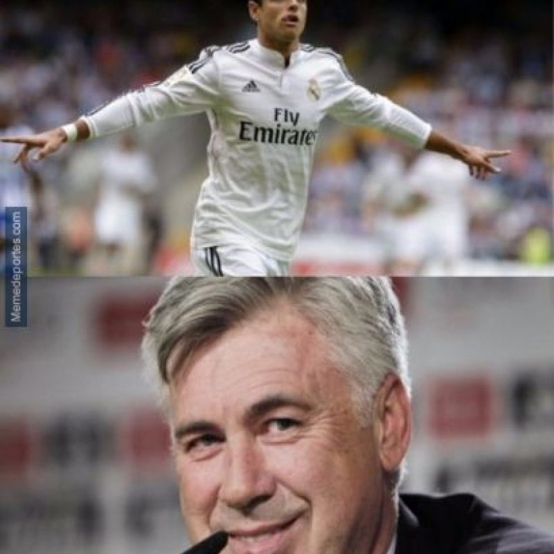 ¡Qué cruel, Ancelotti! Foto:memedeportes.com