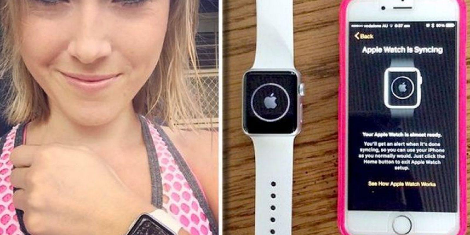 La autraliana Melanier Firbank es la afortunada mujer que recibió el primer Apple Watch de la preventa Foto:instagram.com/melfirbank/