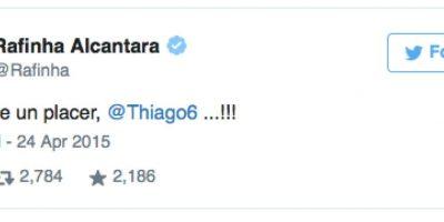 Así festejó Rafa Alcántara su reencuentro con su hermano Thiago que juega en Bayern. Foto:Vía Twitter.com/Rafinha
