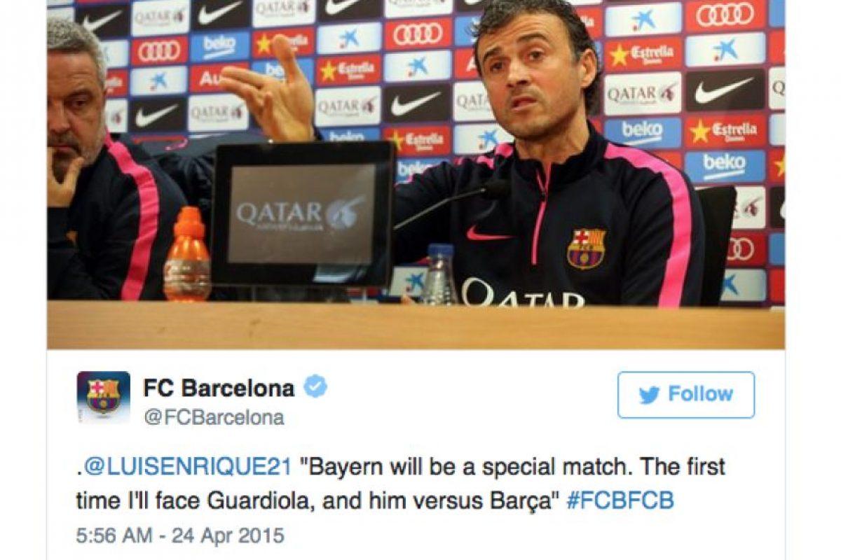 """""""Será un partido especial ante el Bayern. La primera vez que me enfrentaré a Guardiola y él al Barcelona"""". Foto:Vía Twitter.com/FCBarcelona"""