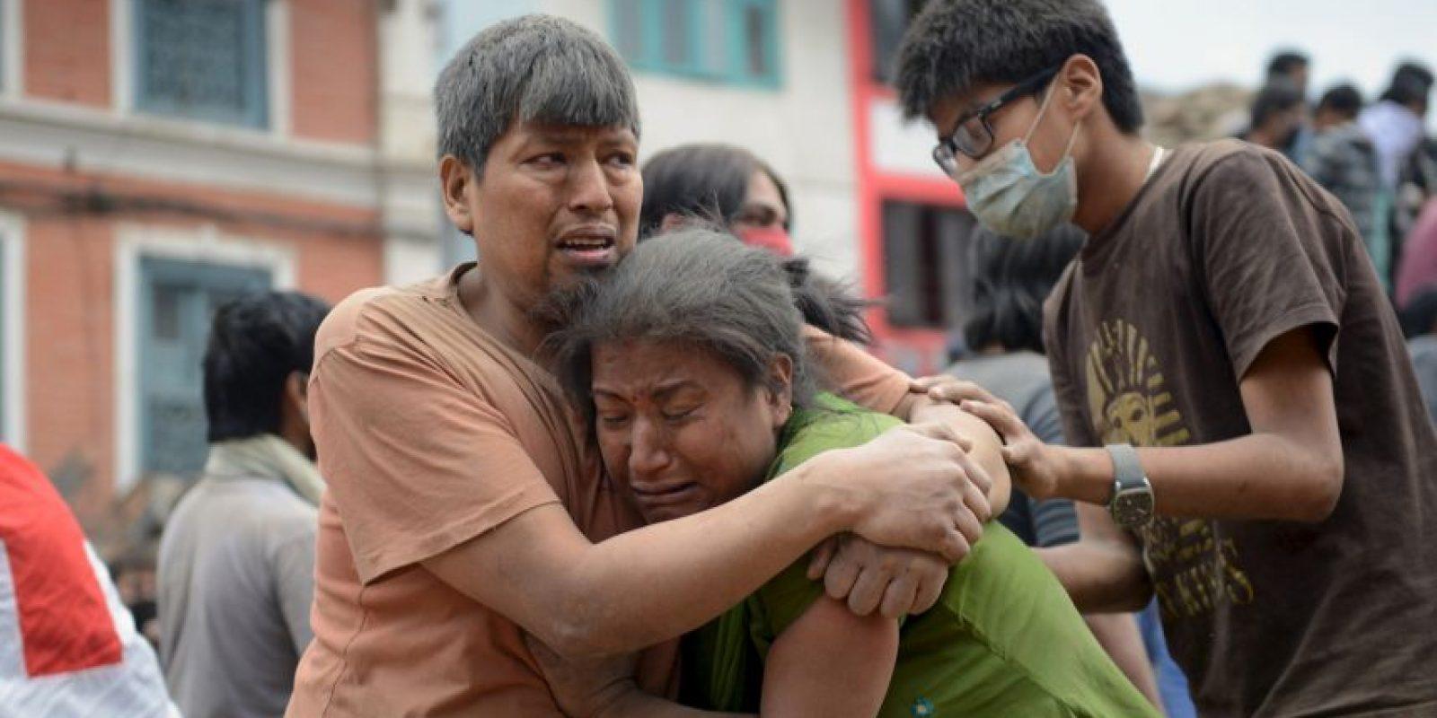El terremoto que ocurrió esta mañana en Nepal tuvo una magnitud de 7,8 grados en la escala de Richter. Foto:vía AP