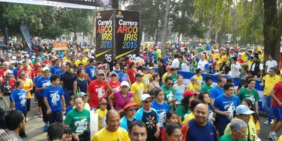 Más de ocho mil personas participaron en la Carrera Arco Iris