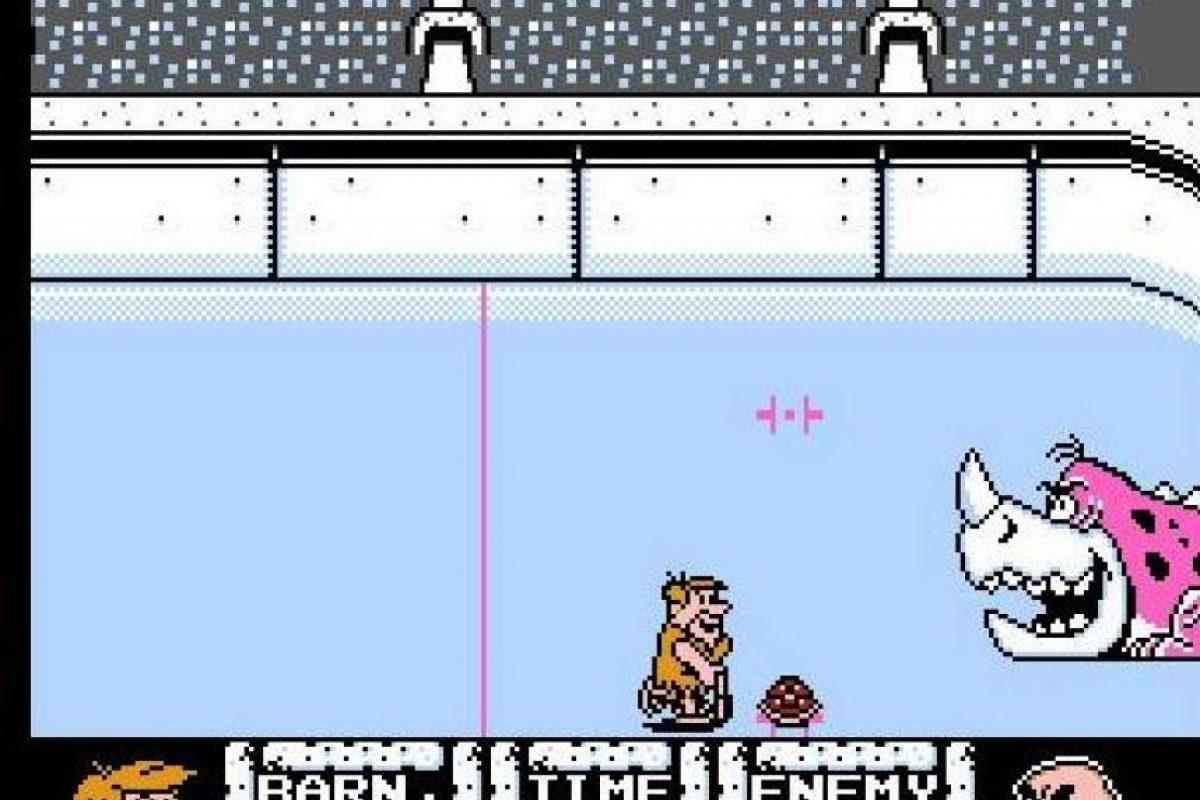 Flintstones: Surprise at Dinosaur Peak de 1994. Los picapiedra en Nintendo fueron muy populares, pese a las gráficas muy básicas del juego Foto:Nintendo