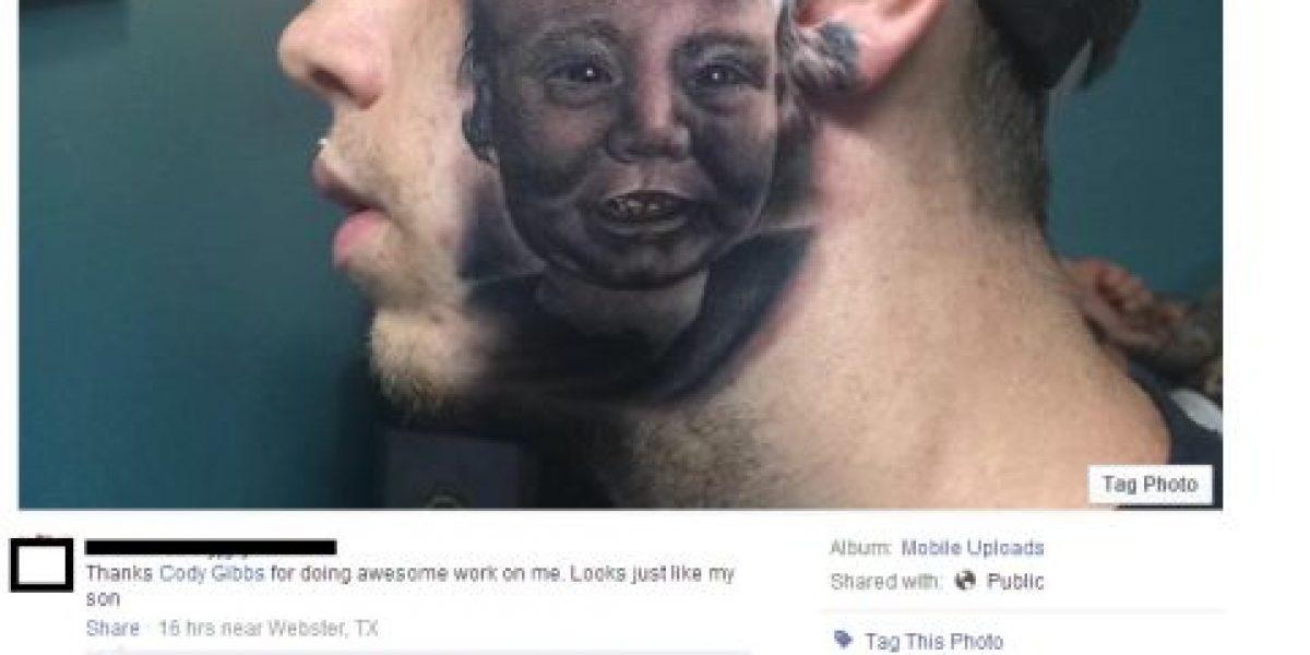 FOTOS: Este joven se hizo un tatuaje de su bebé y quedó espantosamente mal