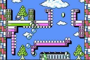 Bubble Bobble Part 2 de 1993. Este pequeño dinosaurio sorteaba obstáculo con pequeñas burbujas Foto:Nintendo