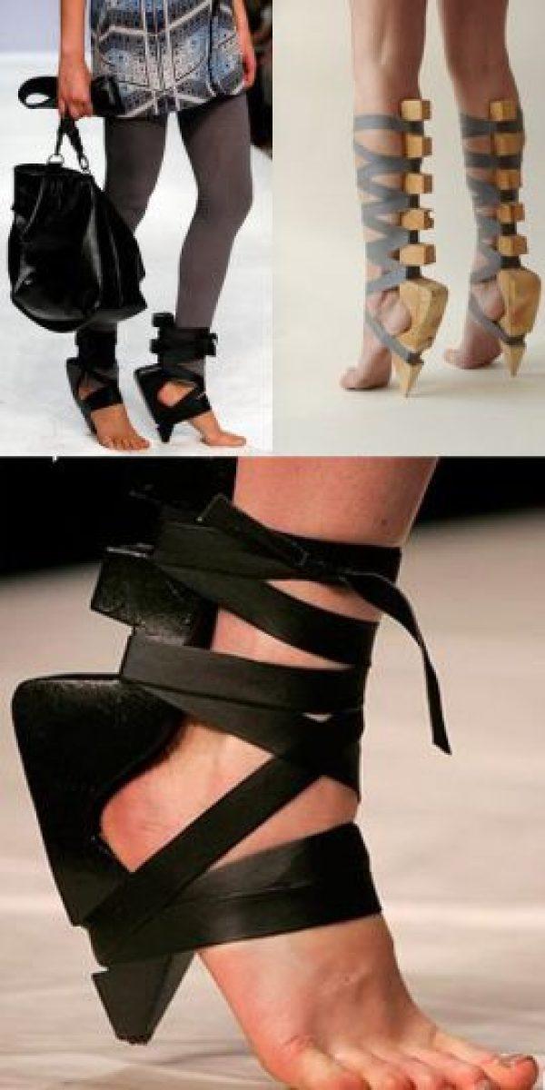 ¿Para qué se usan los zapatos si no es también para proteger el pie? Foto:vía Tumblr