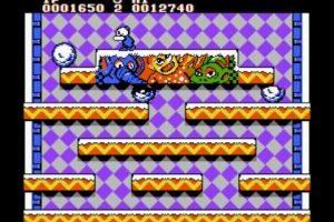 Snow Brothers de 1991. ¿No pasaron horas en la tienda de la esquina jugando este título para Arcade? Foto:Nintendo