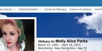 Así aparece Molly en su obituario. Foto:vía Tributes.com