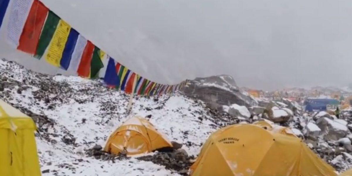 VIDEO: ¡Terrorífico! Alpinista grabó avalancha que cubrió el Everest tras terremoto
