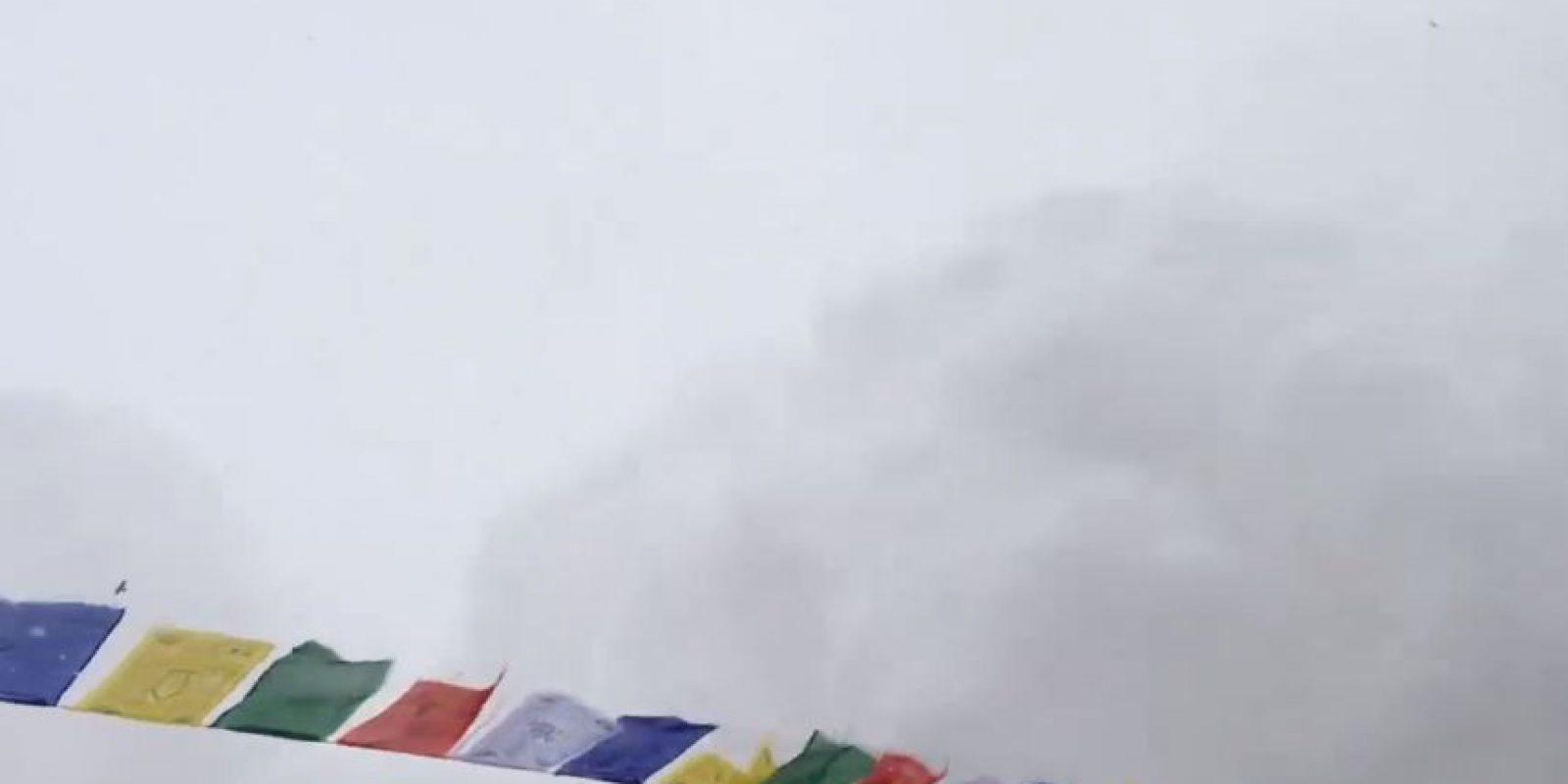 Jost captó cómo la nieve se acercaba amenazadoramente. Foto:vía Youtube/Jost Kobusch