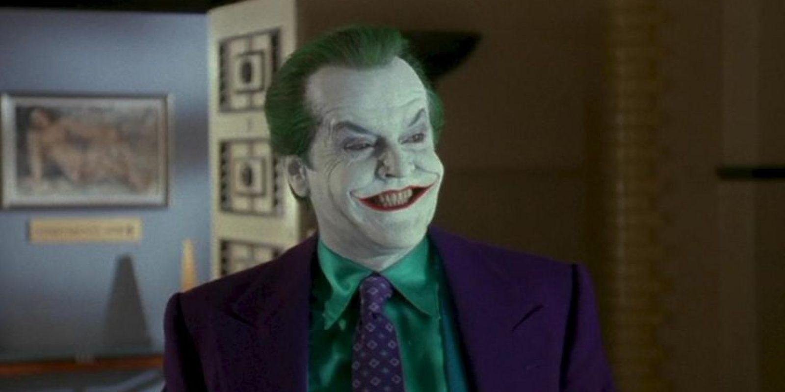 Para 1989, el actor Jack Nicholson sorprendería al mundo con su genial interpretación del personaje Foto:Warner Bros.