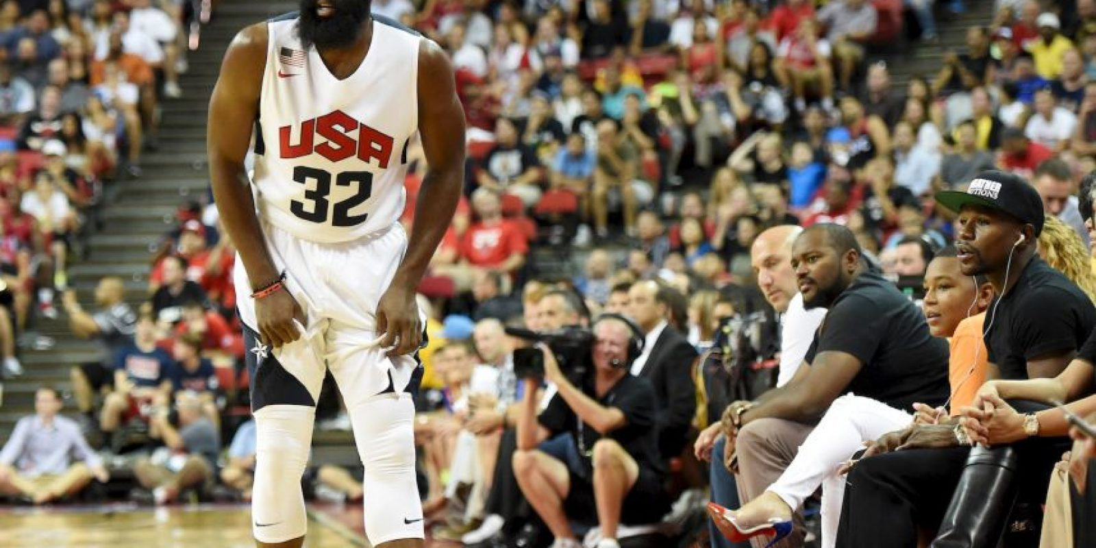 Mayweather: Paul George, basquetbolista de la NBA. Foto:Getty Images