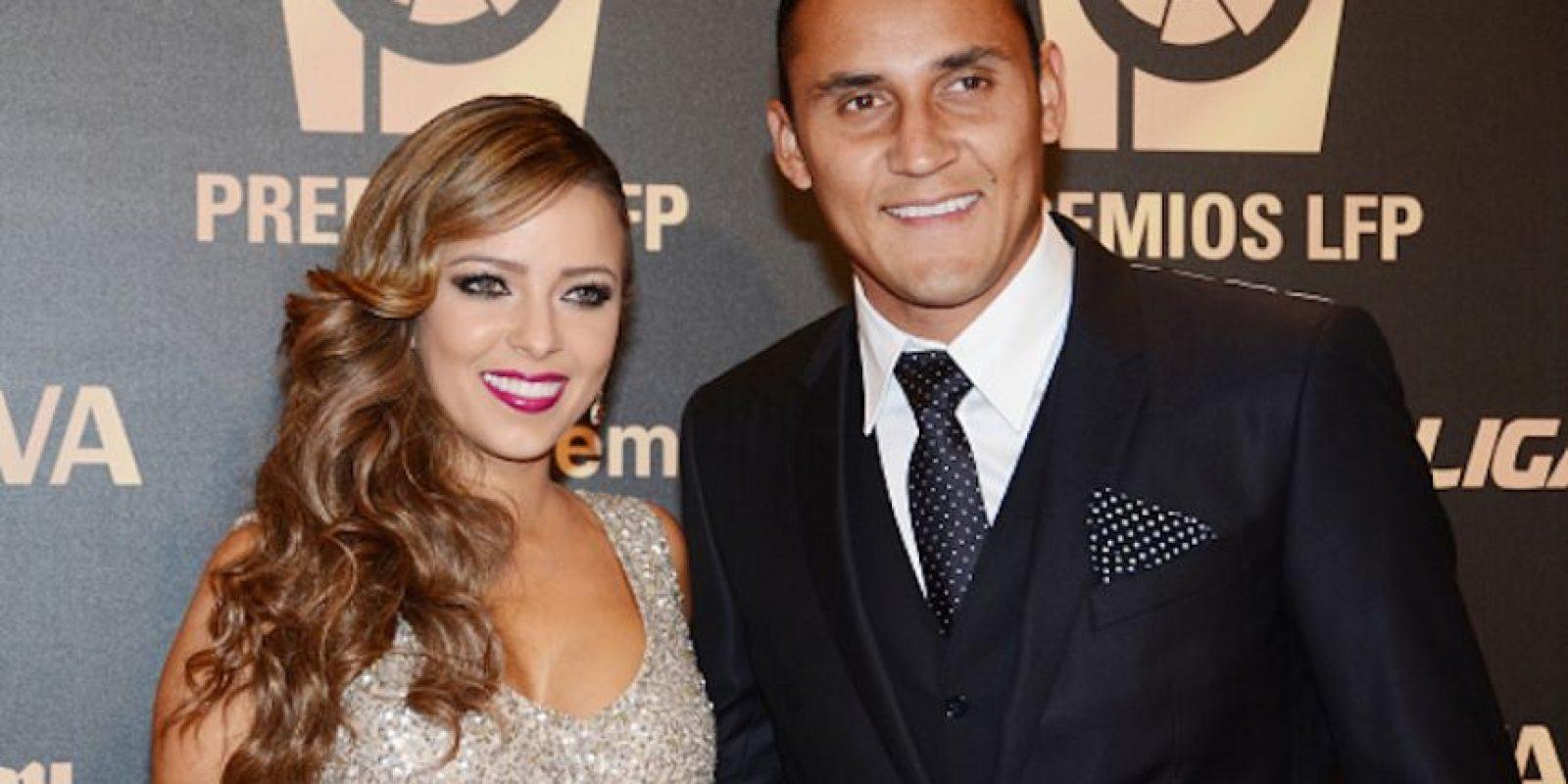 Andrea Salas es la pareja de Keylor Navas, arquero del Real Madrid. Foto:Getty Images
