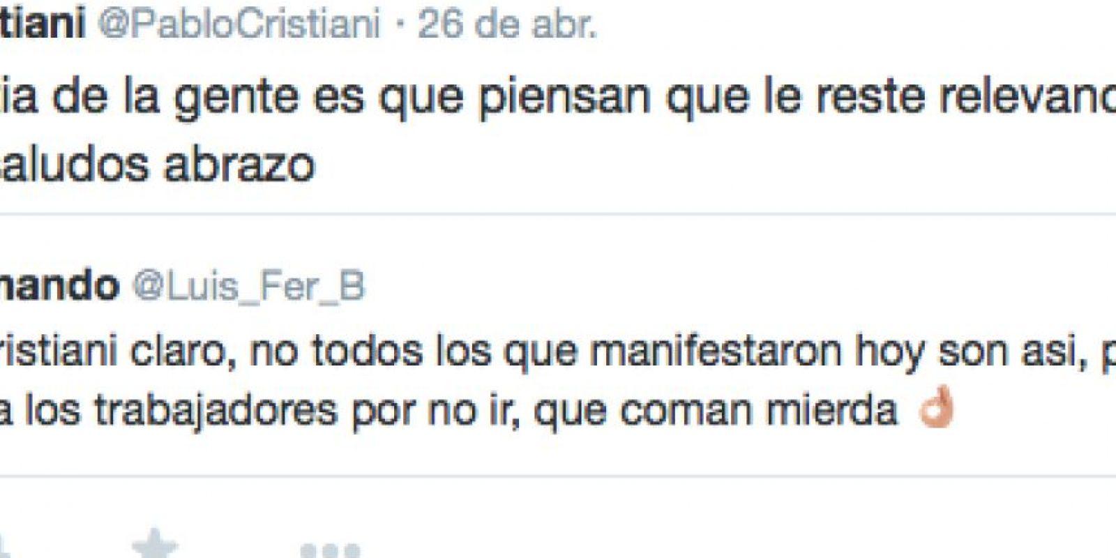 Foto:Twitter Pablo Cristiani