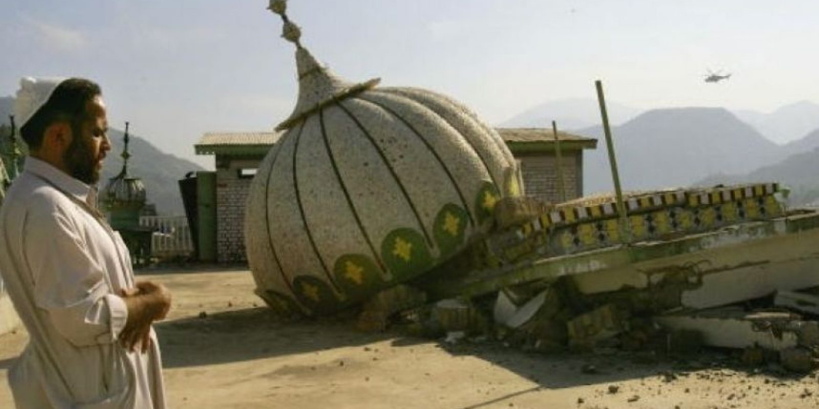 6. 8 de octubre de 2005, Pakistán: Aproximadamente 86 mil muertos dejó un terremoto de 7.6 grados de magnitud en el norte de Pakistán. Foto:Getty Images