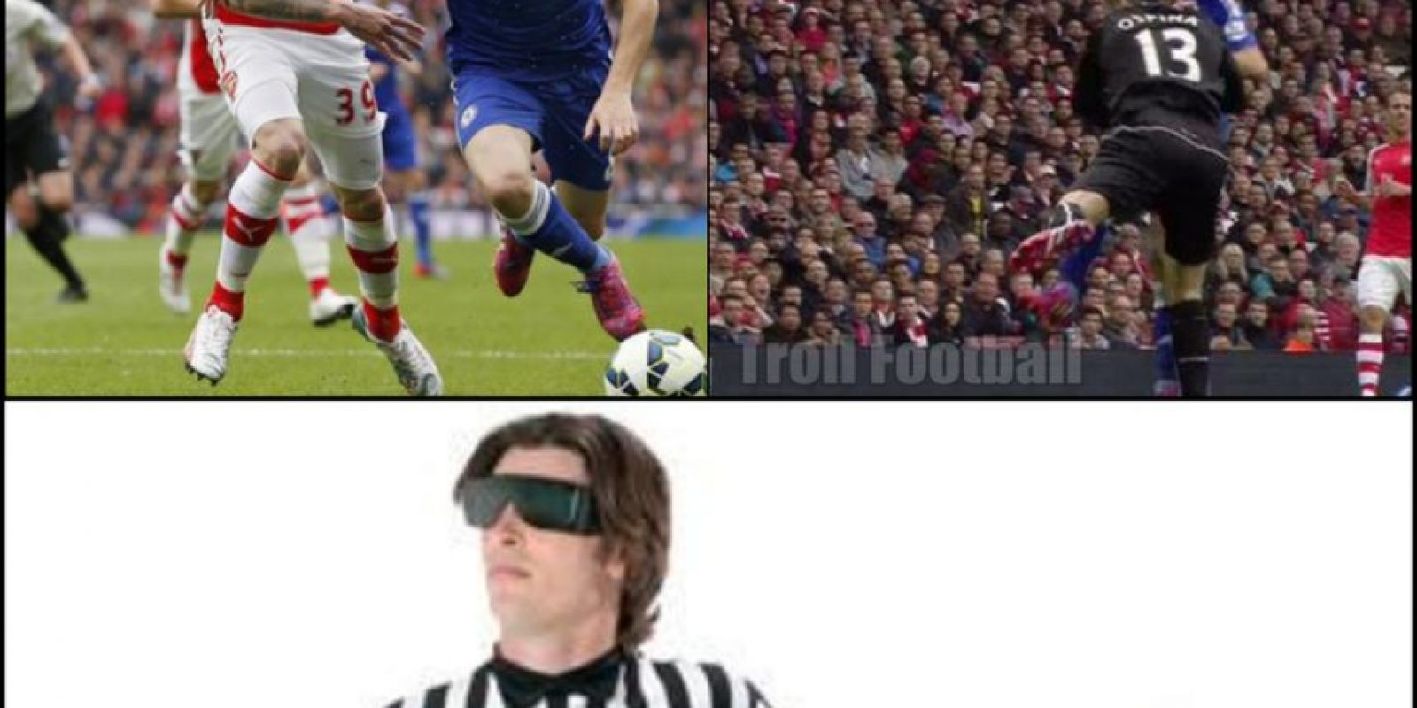 Esto provocó que los jugadores de Chelsea protestaran penal, pero no se marcó. Foto:Vía Twitter.com/troll__football