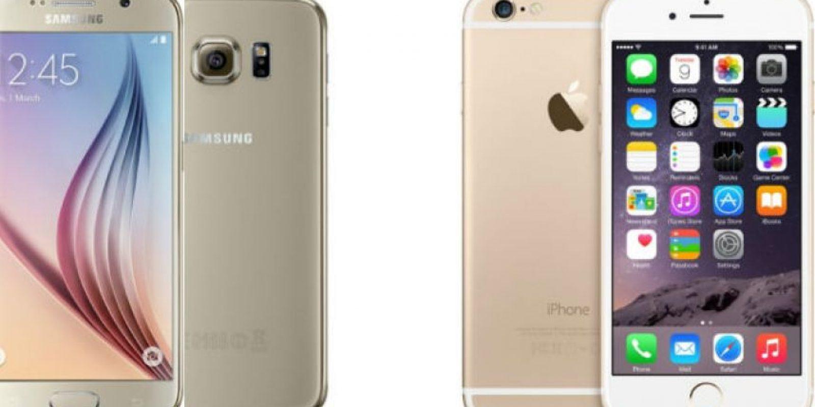Comparamos al Samsung Galaxy S6 frente al iPhone 6. Foto:Samsung / Apple