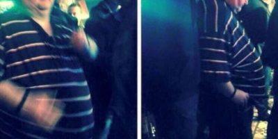 Un hombre gordo fue avergonzado cuando trató de bailar en un concierto. Foto:vía Twitter