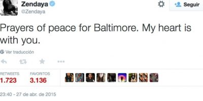 """""""Oraciones de paz para Baltimore. Mi corazón está con ustedes"""" Foto:Twitter.com/"""