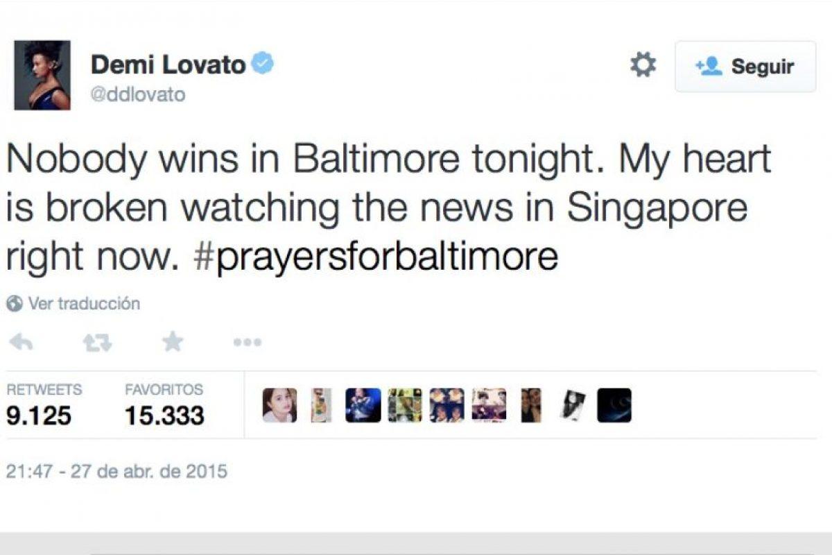 """""""Nadie gana esta noche en Baltimore. Mi corazón está roto mirando las noticias desde Singapur"""" Foto:Twitter.com/"""