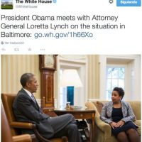 """Calificó a la violencia de """"criminal"""" y explicó que no hay excusa para ello. Foto:Twitter.com/WhiteHouse"""