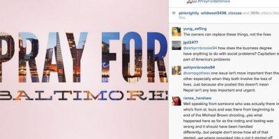 """Publicó una imagen con el texto """"Reza por Baltimore"""" Foto:Instagram.com/khloekardashian"""