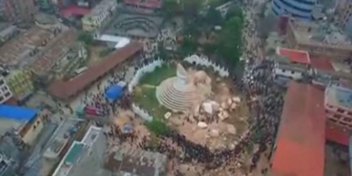 VIDEO. Dron capta la devastación del terremoto en Nepal