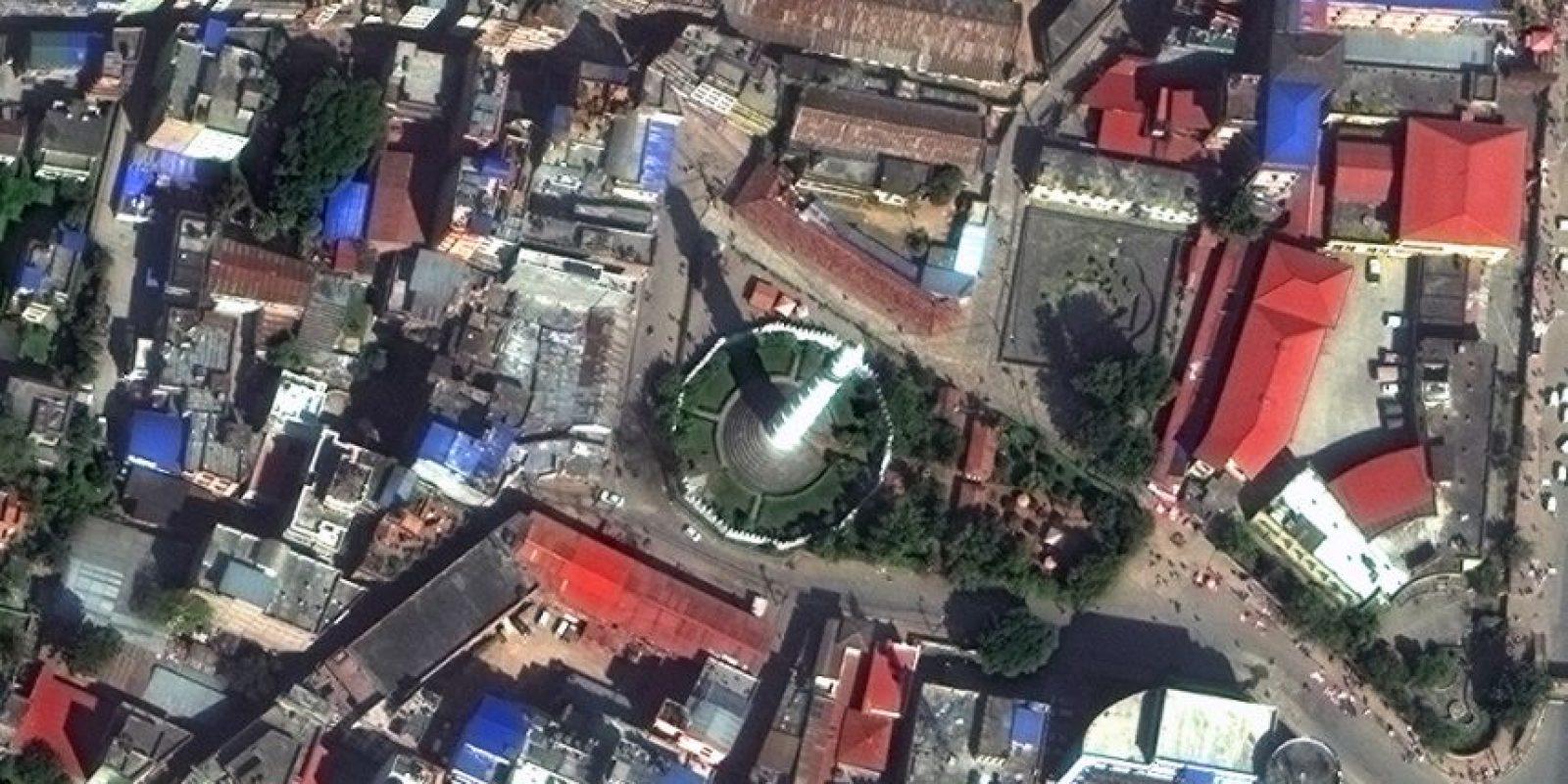 Torre Dharahara Foto:Vía DigitalGlobe