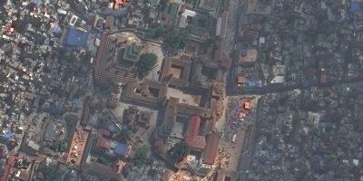 Templo de Vatsala Durga Foto:Vía DigitalGlobe