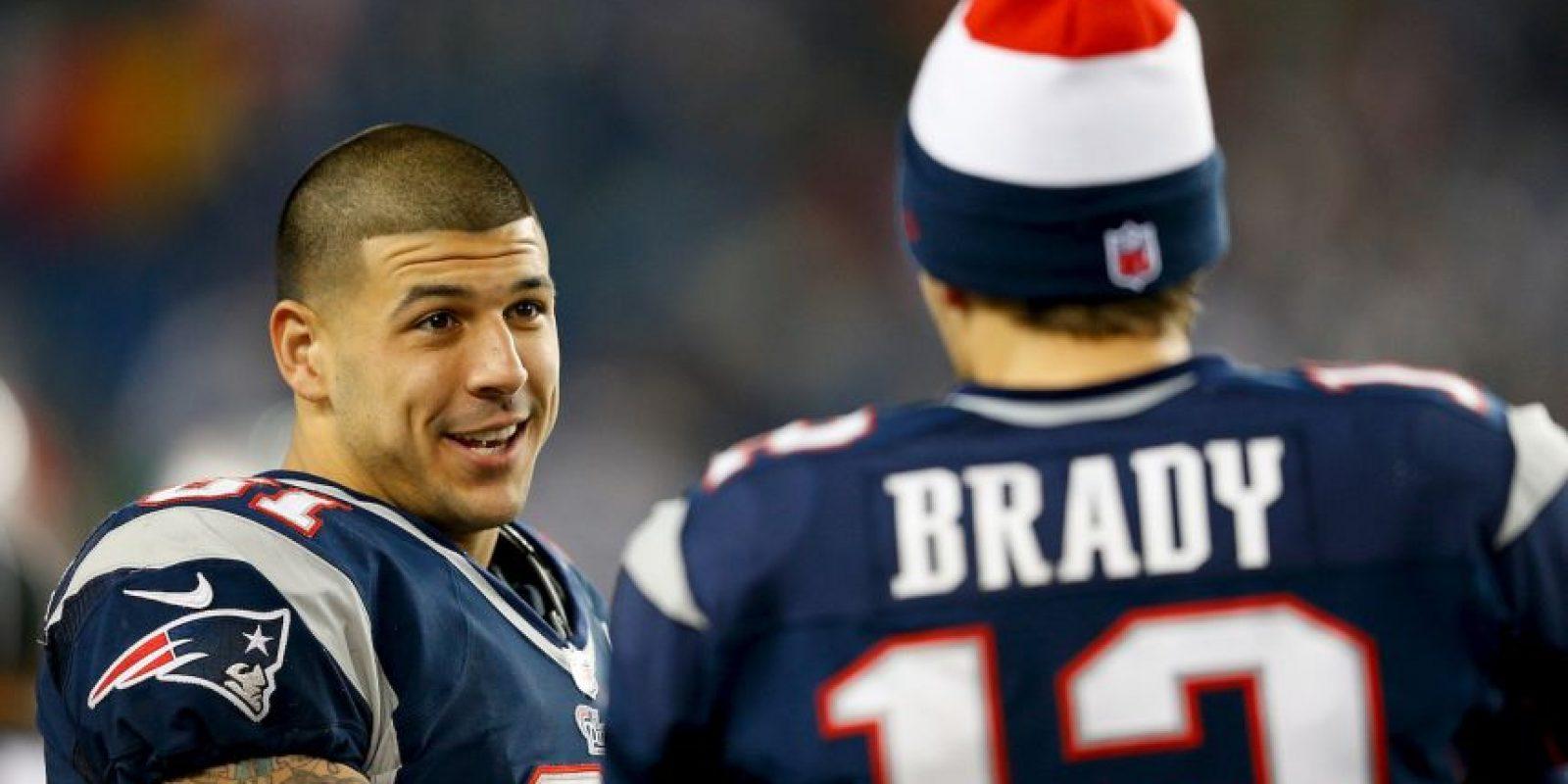 Aaron Hernández, exjugador de la NFL. Foto:Getty Images