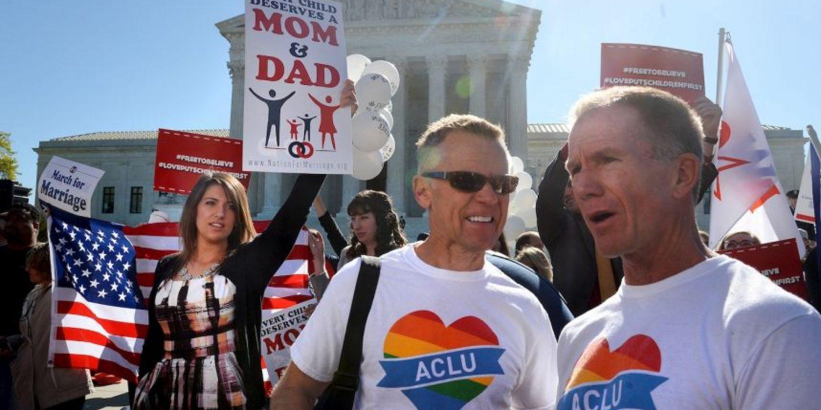 Así lucieron las manifestaciones fuera del Tribunal Supremo de Estados Unidos Foto:Getty Images