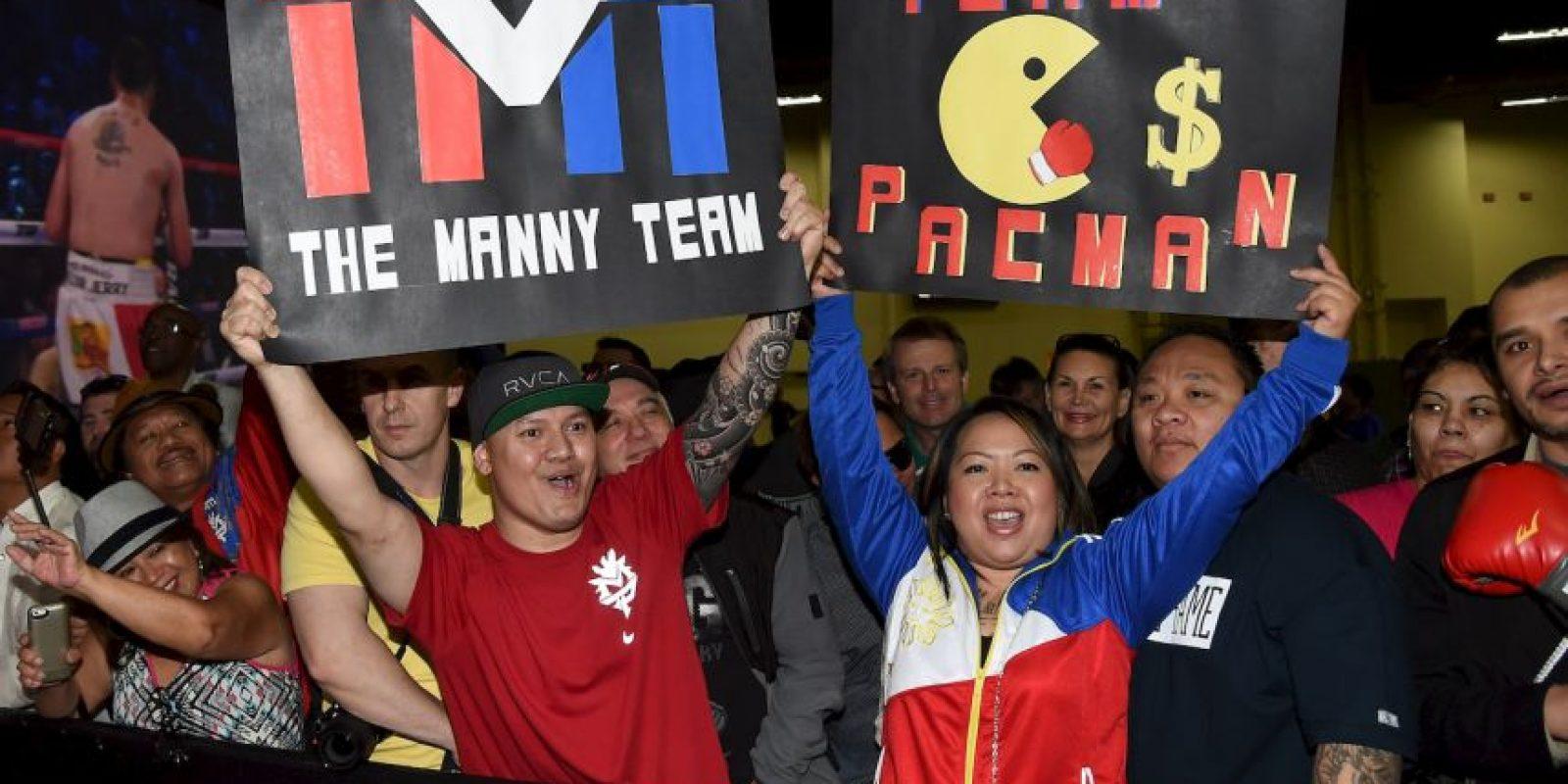 Los seguidroes del filipino se hicieron presentes Foto:Getty Images