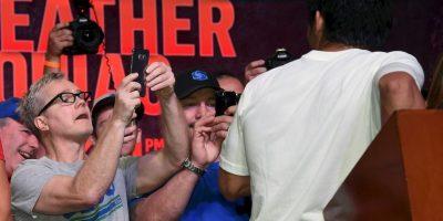 Se dejó fotografiar por su coach Freddie Roach Foto:Getty Images