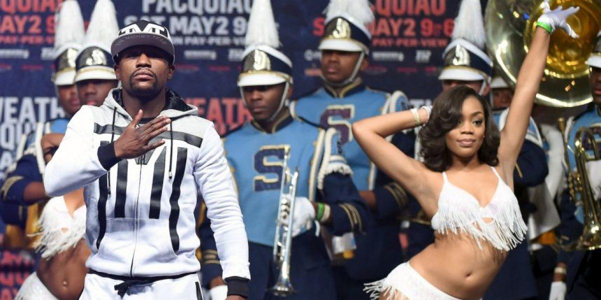 FOTOS: Así fue la espectacular llegada de Floyd Mayweather y Manny Pacquiao a Las Vegas