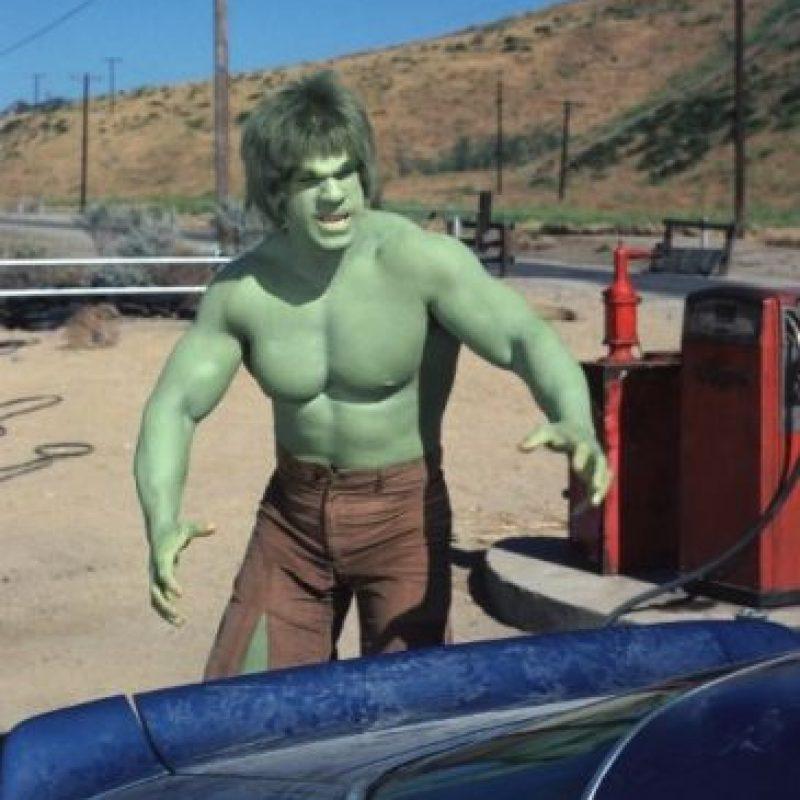 "En 1978, Bill Bixby y Lou Ferrigno interpretó al hombre verde en la serie ""The Incredible Hulk"". Foto:IMDB"