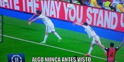 Cosas que sólo se ven en juegos del Real Madrid. Foto:memedeportes.com