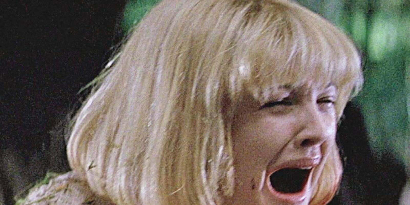 """Drew Barrymore era """"Casey Becker"""", la primera víctima de """"GhostFace"""". Foto:vía Woods Entertainment"""