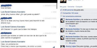 Luis puso las fotos en su Facebook y se hicieron virales. Foto:vía Facebook/Luis Daniel Avendaño