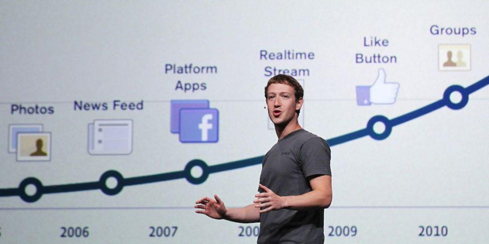 En la conferencia para desarrolladores F8 en septiembre de 2011. Foto:Getty Images