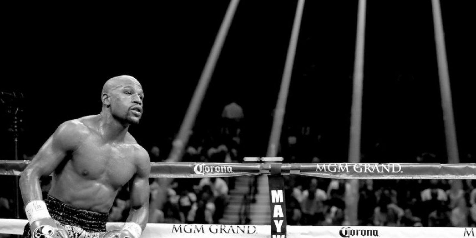En 888sport.es, Mayweather tiene las preferencias y su victoria se paga 1.47 a 1. Foto:Getty Images